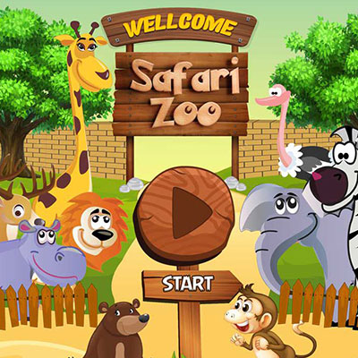 Safari Zoo Game for kids