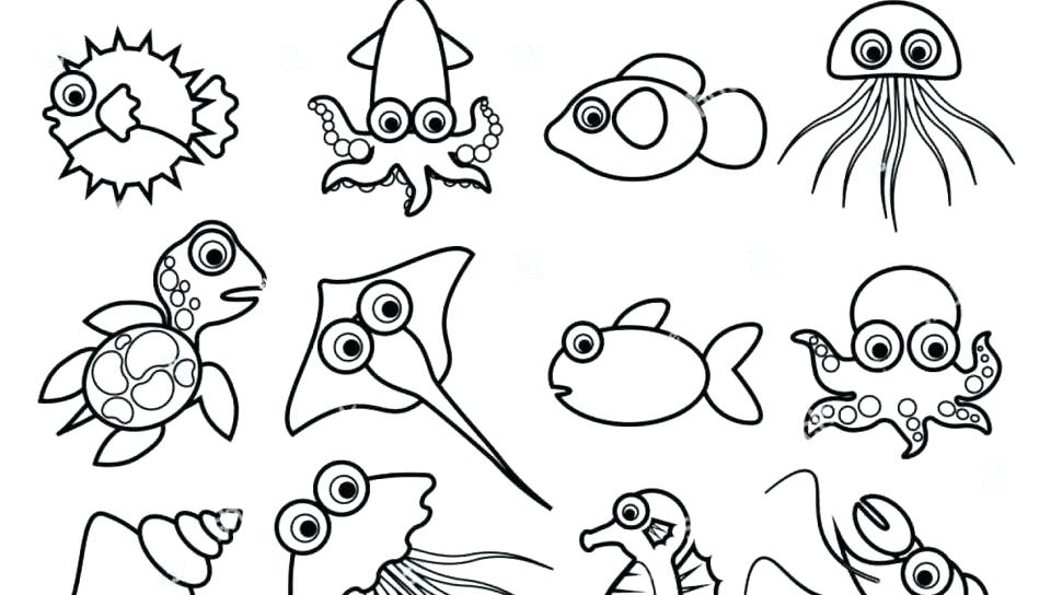 - Printable Sea Animals Coloring Pages For Kids